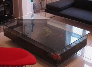 Amazing Aquarium Feature Coffee Table Design Ideas11