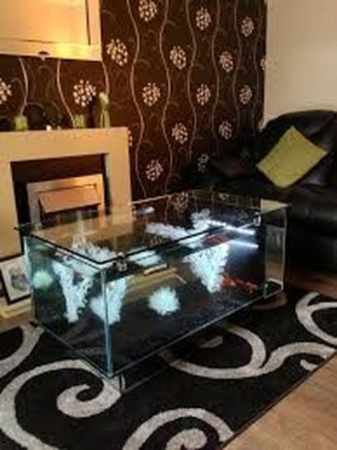 Amazing Aquarium Feature Coffee Table Design Ideas19