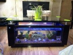 Amazing Aquarium Feature Coffee Table Design Ideas21