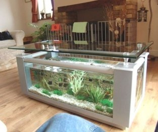 Amazing Aquarium Feature Coffee Table Design Ideas22