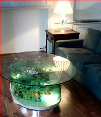 Amazing Aquarium Feature Coffee Table Design Ideas29