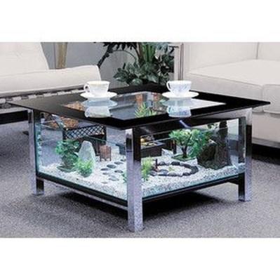 Amazing Aquarium Feature Coffee Table Design Ideas34