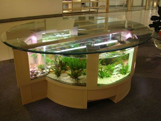 Amazing Aquarium Feature Coffee Table Design Ideas37