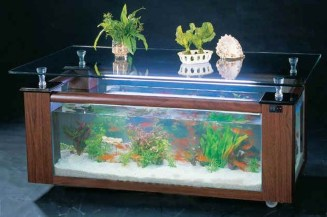 Amazing Aquarium Feature Coffee Table Design Ideas49