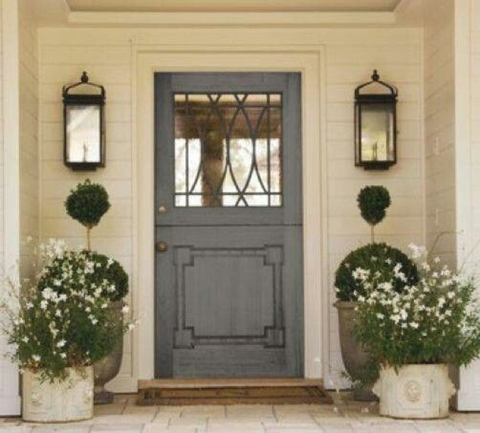 Awesome Front Door Planter Ideas35