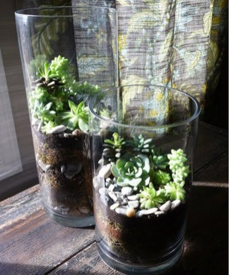 Awesome Ideas To Make Glass Jars Garden For Your Home Decor08
