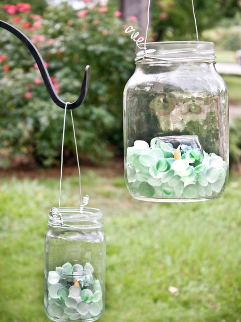 Awesome Ideas To Make Glass Jars Garden For Your Home Decor09