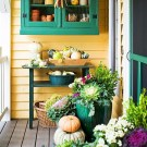 Awesome Teal Color Scheme For Fall Decor Ideas12