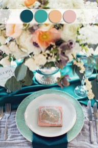 Awesome Teal Color Scheme For Fall Decor Ideas27