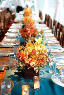 Awesome Teal Color Scheme For Fall Decor Ideas36