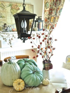 Awesome Teal Color Scheme For Fall Decor Ideas39