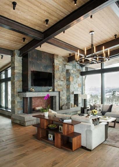 Inspiring Rustic Livingroom Decorations Home18