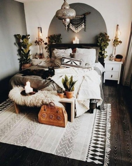 Inspiring Vintage Bohemian Bedroom Decorations11