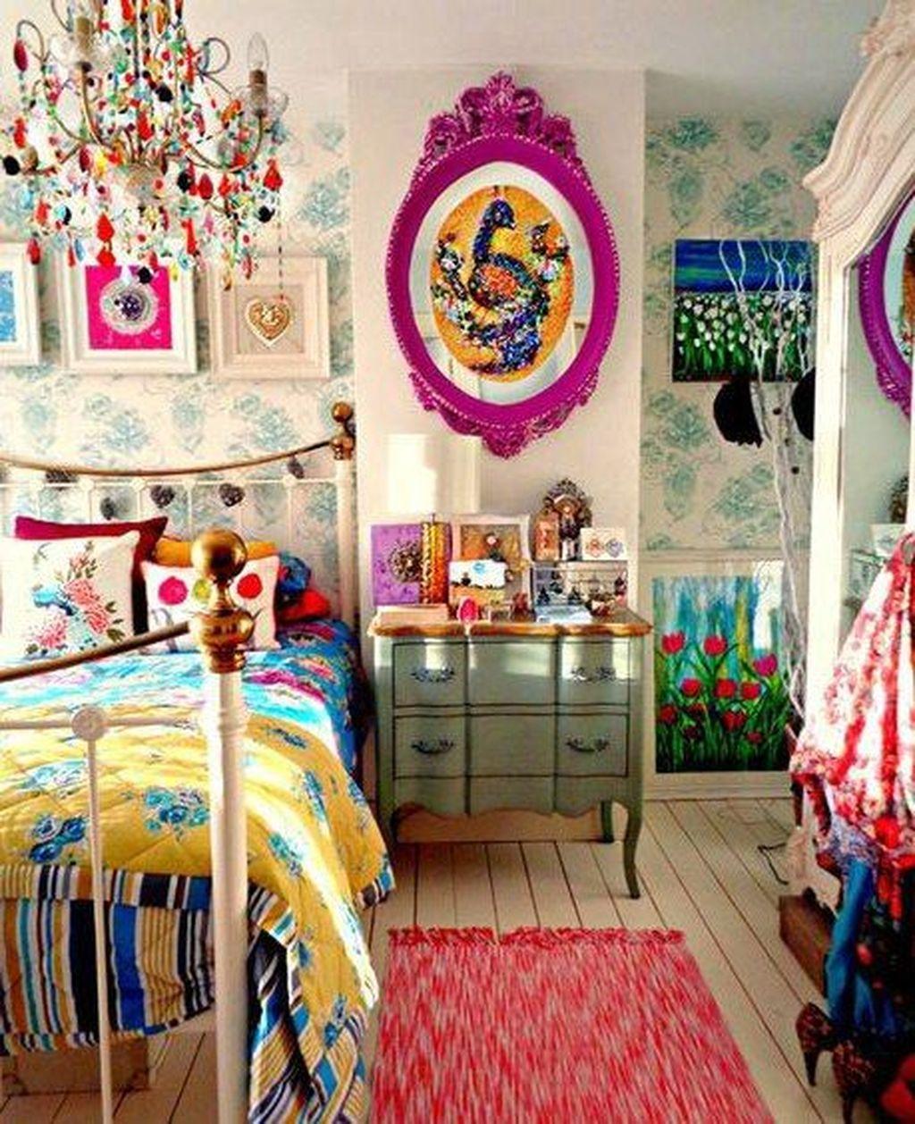 Inspiring Vintage Bohemian Bedroom Decorations15
