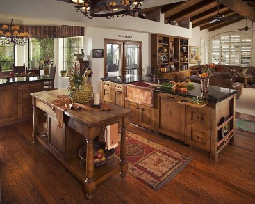 Lovely Rustic Western Style Kitchen Decorations Ideas 35