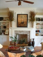 Rustic Brick Fireplace Living Rooms Decorations Ideas04