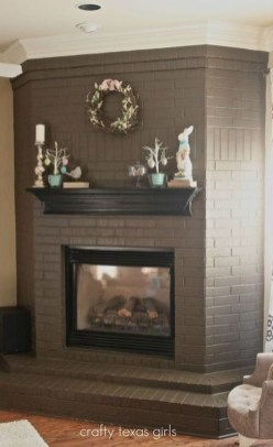 Rustic Brick Fireplace Living Rooms Decorations Ideas38