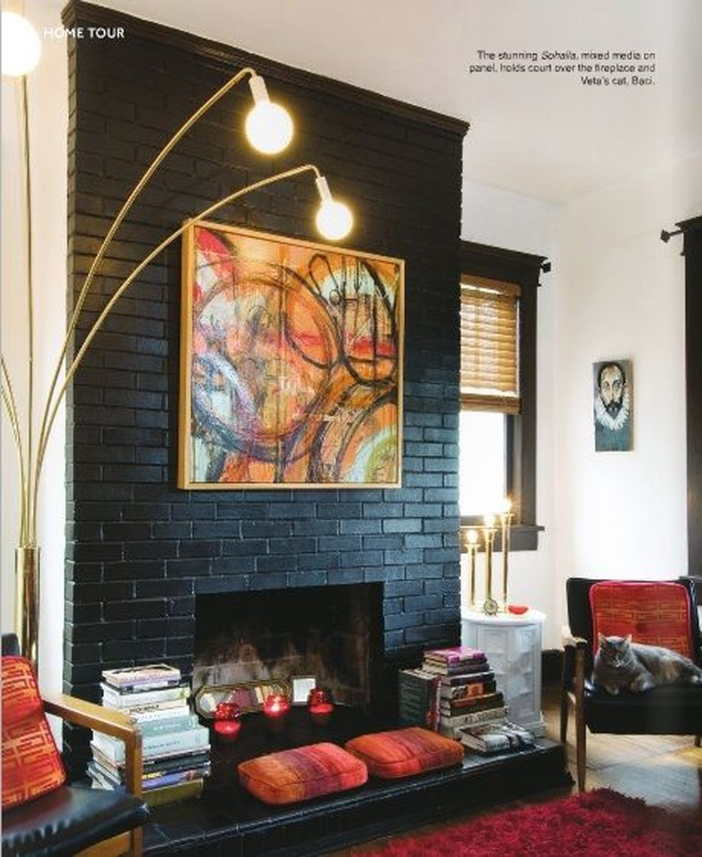 Rustic Brick Fireplace Living Rooms Decorations Ideas43