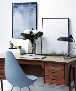 Simple Desk Workspace Design Ideas 18