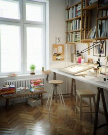 Simple Desk Workspace Design Ideas 24