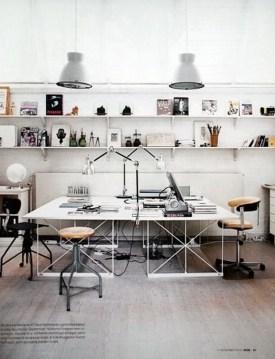 Simple Desk Workspace Design Ideas 39