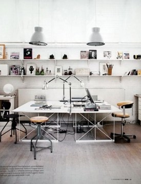 Simple Desk Workspace Design Ideas 39