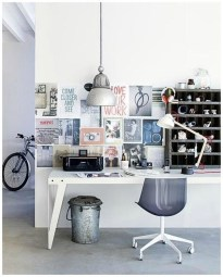 Simple Desk Workspace Design Ideas 43