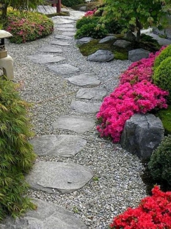 Awesome Diy Garden Path Inspiration Ideas34