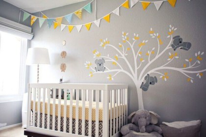 Charming Wall Sticker Babys Room Ideas19