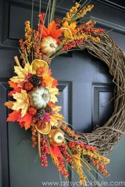 Cheap Iy Fall Wreaths Ideas29