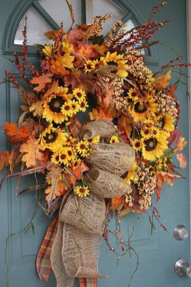 Cheap Iy Fall Wreaths Ideas40