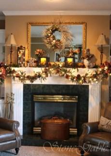 Fantastic Winter Mantle Decoration Ideas25