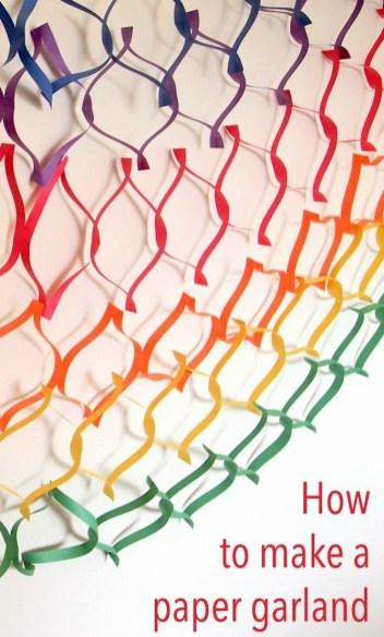 Gorgeous Fun Colorful Paper Decor Crafts Ideas18