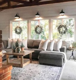 Modern Chic Farmhouse Living Room Design Decor Ideas Home06