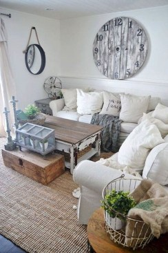 Modern Chic Farmhouse Living Room Design Decor Ideas Home19