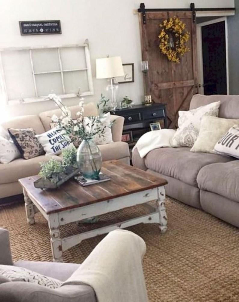 Modern Chic Farmhouse Living Room Design Decor Ideas Home34