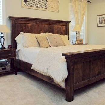 Romantic Rustic Farmhouse Bedroom Design And Decorations Ideas15