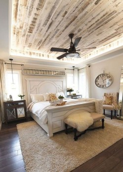 Romantic Rustic Farmhouse Bedroom Design And Decorations Ideas16