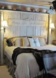 Romantic Rustic Farmhouse Bedroom Design And Decorations Ideas32