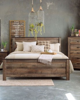 Romantic Rustic Farmhouse Bedroom Design And Decorations Ideas36