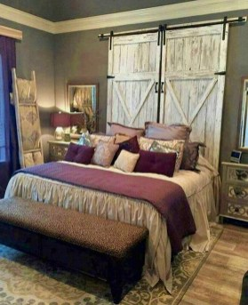 Romantic Rustic Farmhouse Bedroom Design And Decorations Ideas39