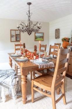 Stylish French Farmhouse Fall Table Design Ideas06