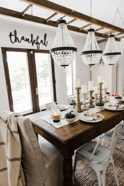 Stylish French Farmhouse Fall Table Design Ideas09
