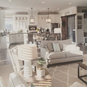 Best Ideas To Design Living Room With Kitchen Properly27
