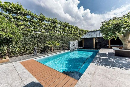 Cozy Swimming Pool Design Ideas For Your Home Backyard19
