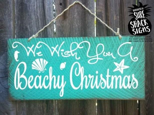 Creative Beach Christmas Decor Ideas43