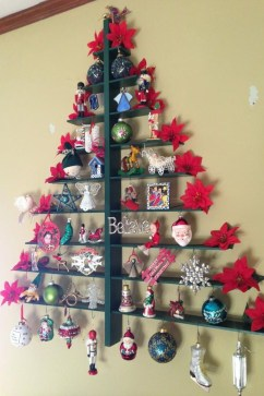 Diy Wall Christmas Tree Ideas16