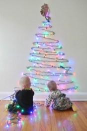 Diy Wall Christmas Tree Ideas28