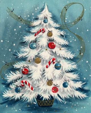 Fascinating White Vintage Christmas Ideas30