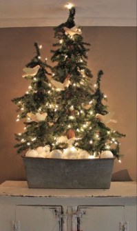 Minimalist Small Tree In A Bucket Ideas For Christmas14